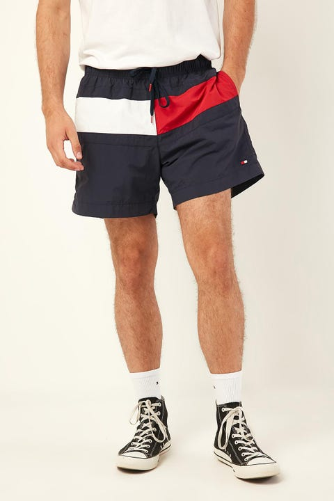 Tommy Jeans Core Flag Med Swim Short Navy Blazer