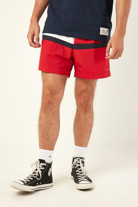 Tommy Jeans Core Flag Med Swim Short Tango Red