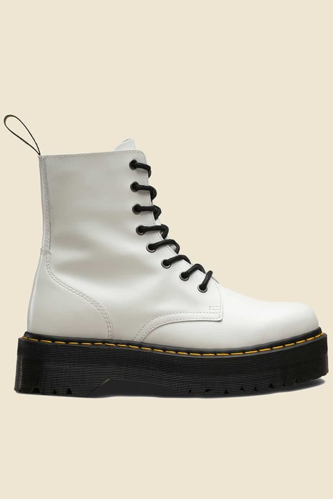 Dr Martens Womens Jadon 8 Eye Boot White Polished Smooth