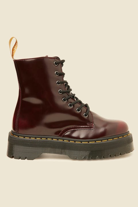 DR MARTENS Vegan Jadon II 8 Eye Boot Cherry Red