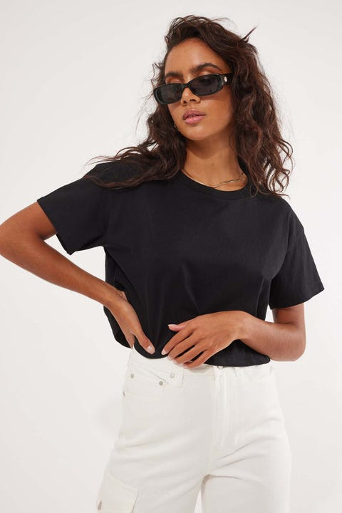 AS Colour Crop Tee Black