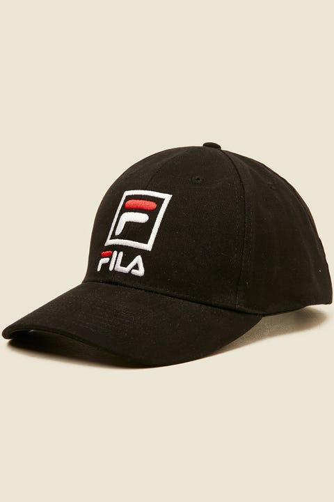 FILA Front Logo Cotton Twill Cap Black