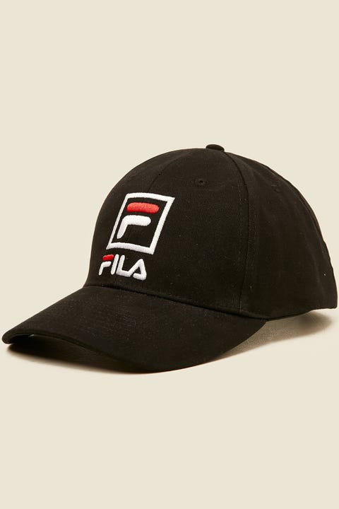FILA Front Logo Cotton Twill Cap Black