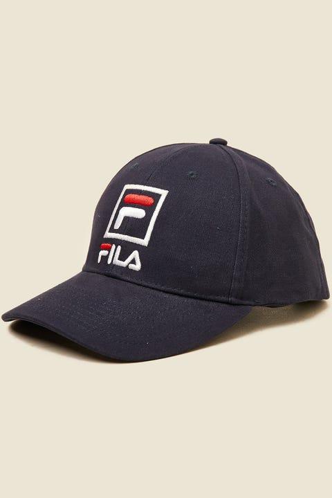 FILA Front Logo Cotton Twill Cap Navy