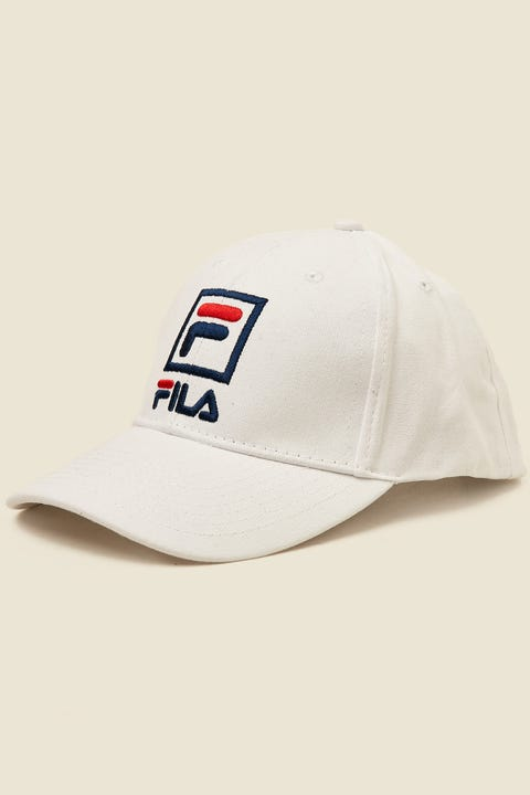FILA Front Logo Cotton Twill Cap White