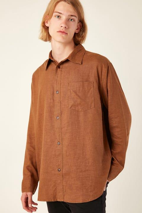 Thrills Minimal Thrills Oversize L/S Shirt Bronze