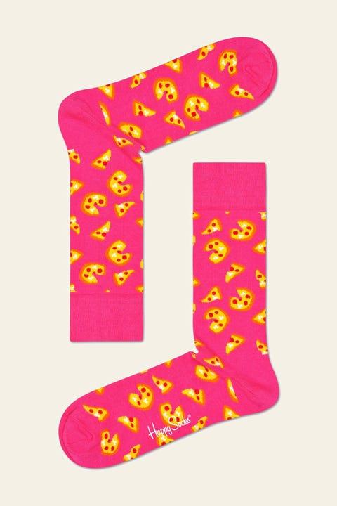 HAPPY SOCKS Pizza Sock Pink Pink