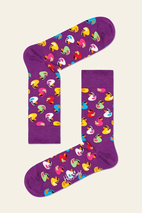 HAPPY SOCKS Rubber Duck Sock Pur/Multi Purple/Multi