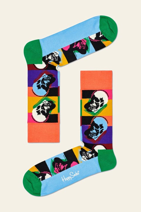 HAPPY SOCKS x Andy Warhol Skull Multi