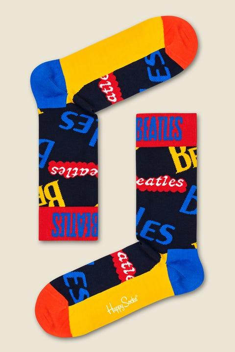 HAPPY SOCKS x The Beatles Logo Mania Navy