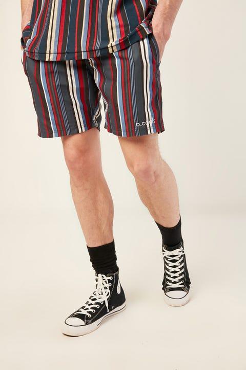 "BARNEY COOLS Poolside 17"" Short Navy Stripe"