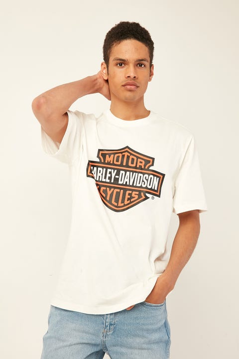 HARLEY-DAVIDSON Bar and Shield Tee Vintage White