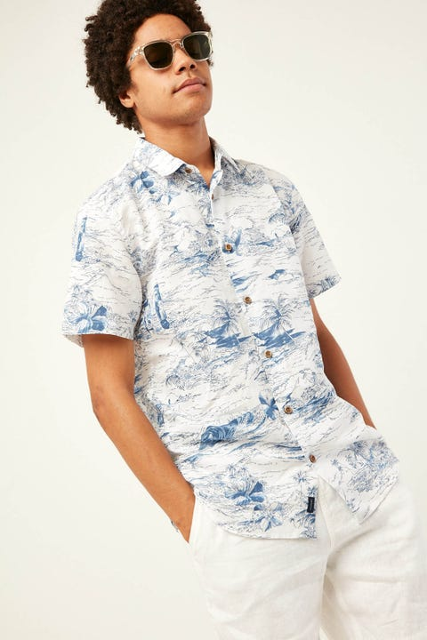 THE ACADEMY BRAND Grover Shirt White Blue