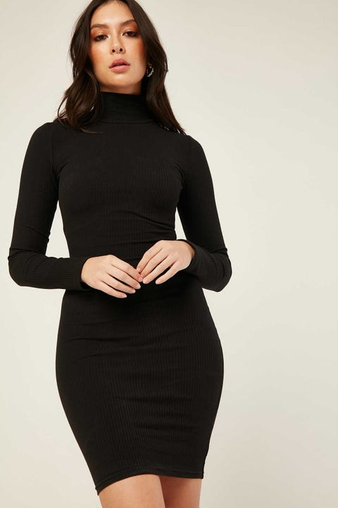 L&T Asko Long Sleeve Dress Black