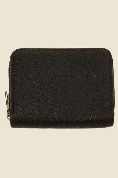 TOKEN Mini Zip Around Wallet Black