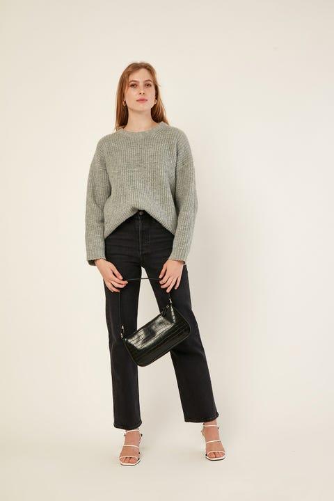 PERFECT STRANGER Larsen Chunky Knit Grey