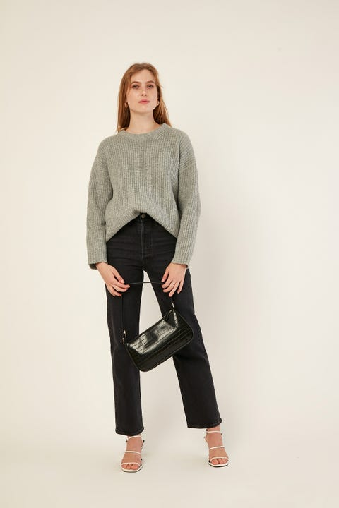 PERFECT STRANGER Larsen Chunky Knit Grey
