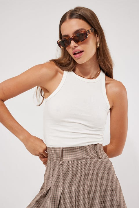 L&t The One Tank Top White