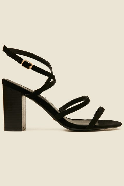 BILLINI Vega Heel Black Nubuck/Black