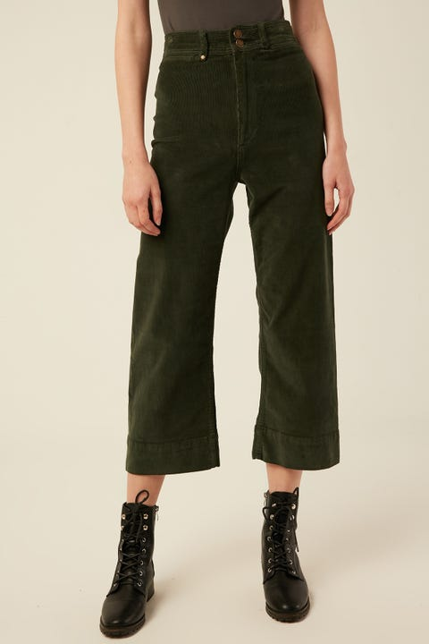 THRILLS Belle Cord Pant Faded Jungle