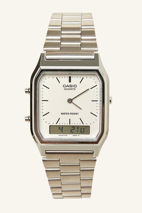 CASIO AQ230A Duo Watch Silver