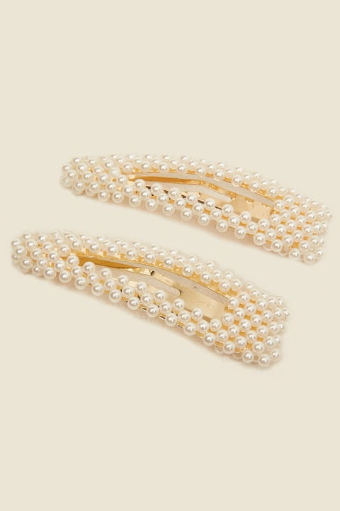 TOKEN Large Pearl Hair Clip White
