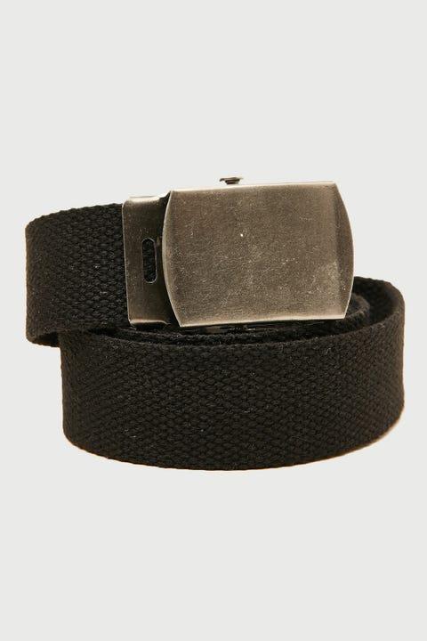 Common Need Skater Web Belt Black