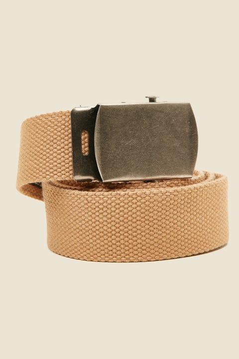 COMMON NEED Skater Web Belt Tan