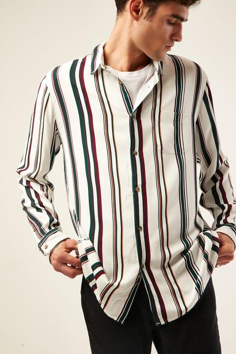 COMMON NEED Dew Vertical Stripe Longsleeve White
