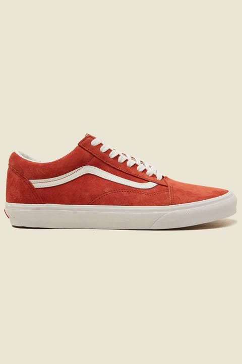 VANS Old Skool (Pig Suede) Burnt Brick/True White