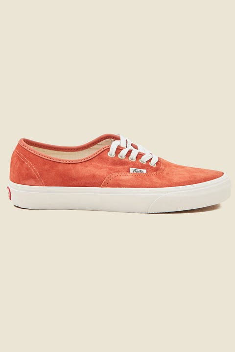 VANS Authentic (Pig Suede) Burnt Brick/True White