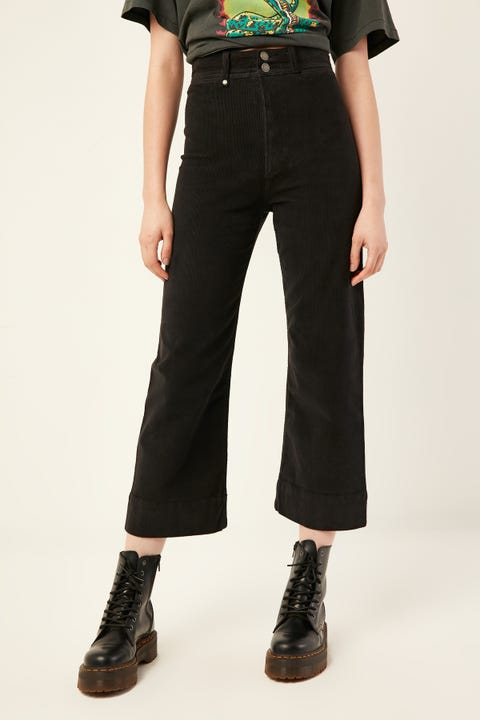 THRILLS Belle Cord Pant Faded Black