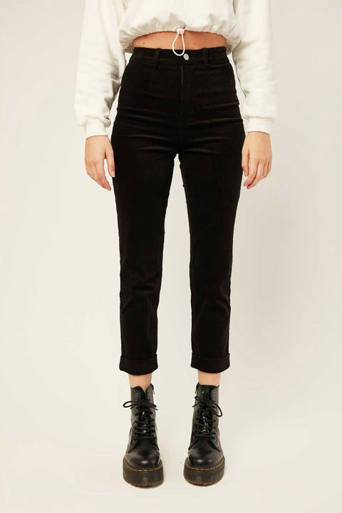 LUCK & TROUBLE Arlet Cord Pant Black