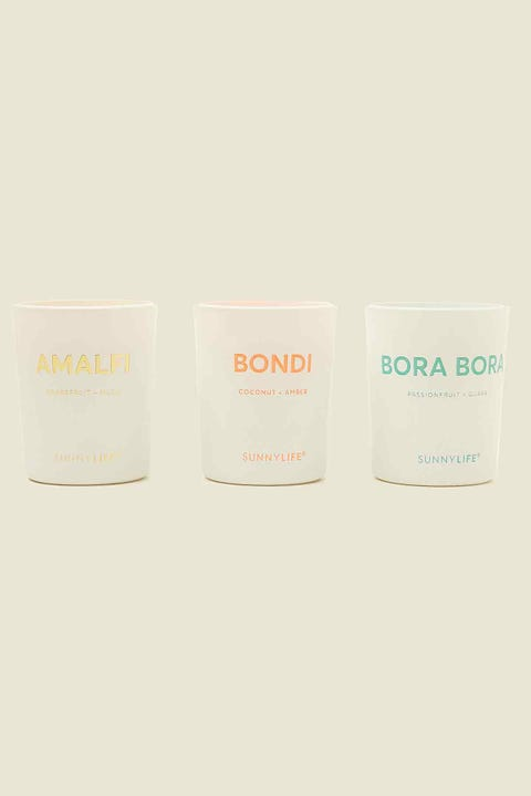 Sunnylife Candle Pack Amalfi, Bondi, Bora Bora
