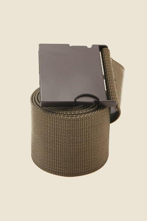 LEVI'S Metal Clip Web Belt Khaki