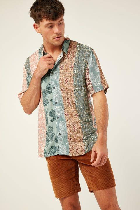 WRANGLER Garageland Shirt Paisley Stripe