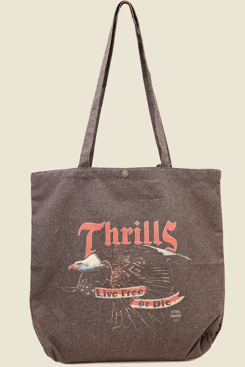 THRILLS Free Or Die Tote Merch Black