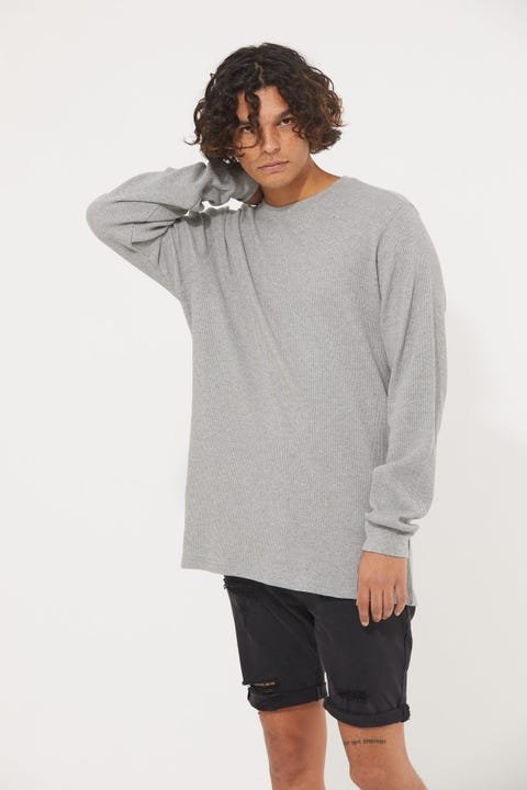 Common Need Comfort Longsleeve Tee Grey Marle