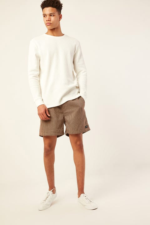 Common Need Houndstooth Short Coffee