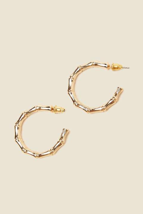 TOKEN Ornate Hoop Earring Gold