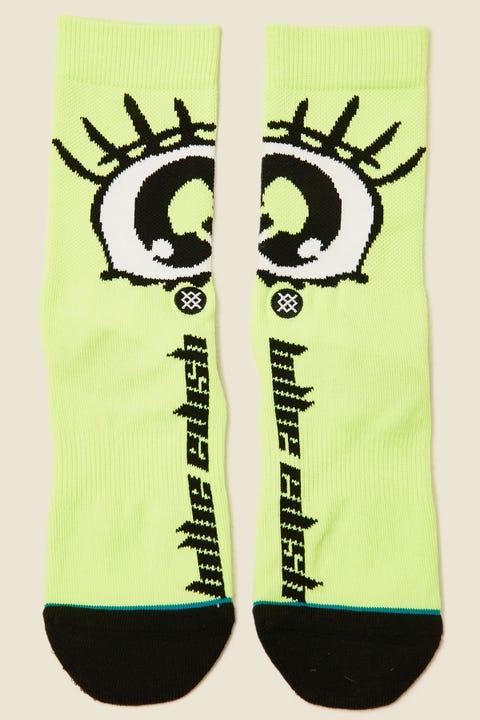 STANCE x Billie Eilish Anime Eyes Neon Green