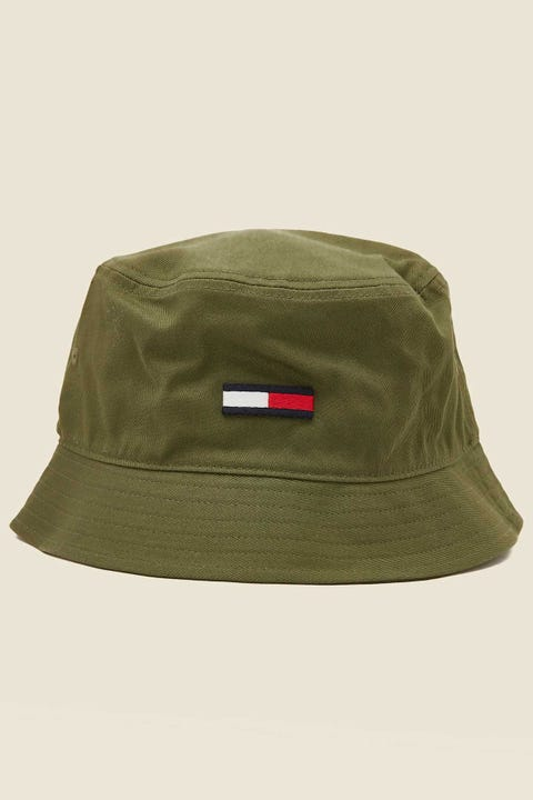 TOMMY JEANS Flag Bucket Hat Cypress