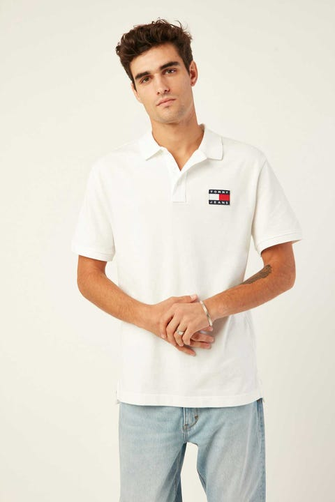 Tommy Jeans TJM Tommy Badge Polo White