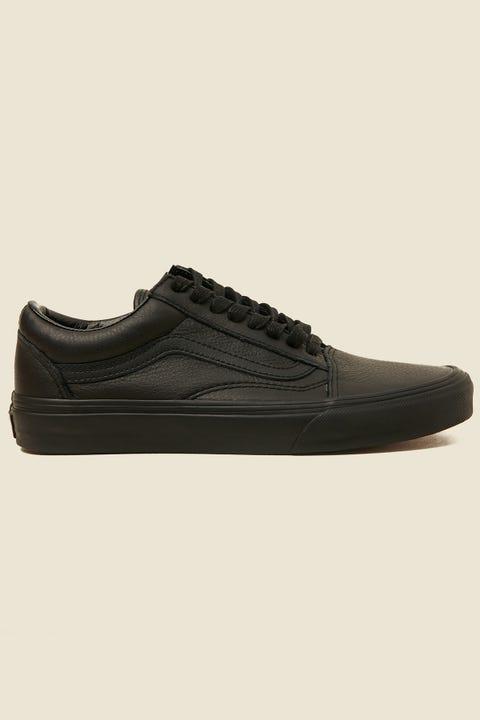 Vans Old Skool Leather Black Mono Black Mono
