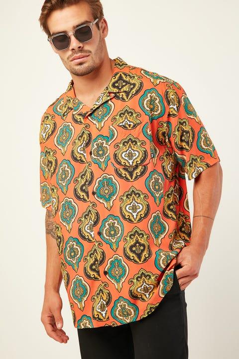 STUSSY Shield SS Shirt Peach