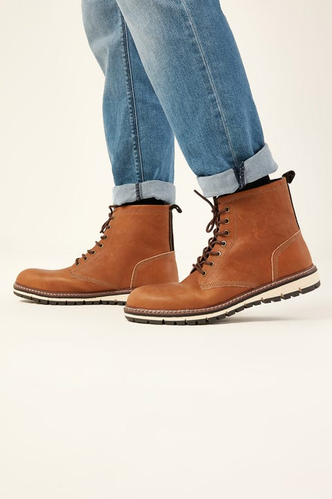 THE ACADEMY BRAND Military Boot Brown