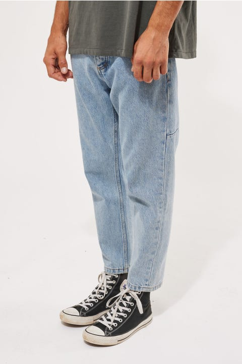 Thrills Chopped Denim Jean Wasted Blue