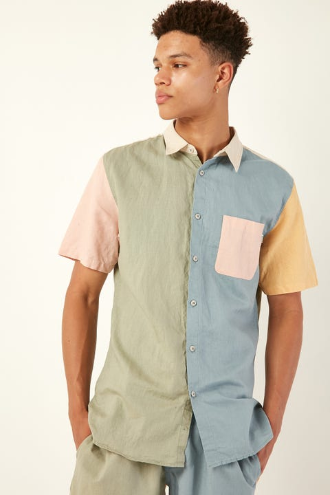 BARNEY COOLS Holiday SS Shirt Pastel Colour Block
