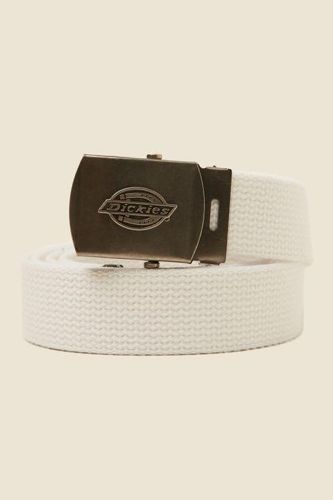 DICKIES Cotton Web Belt White
