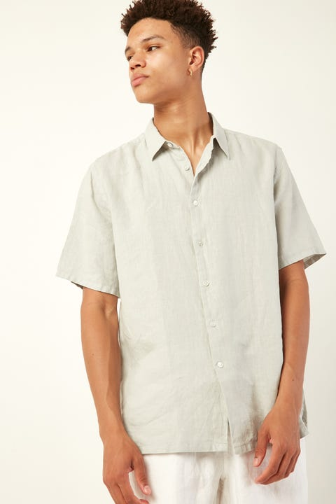 ASSEMBLY Casual Short Sleeve Shirt Sea Foam